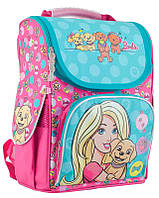 Рюкзак (ранец) школьный каркасный 1 Вересня 553265 Barbie mint H-11 34*26*14см