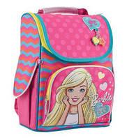 Рюкзак (ранец) школьный каркасный 1 Вересня 553275 Barbie rose H-11 34*26*14см