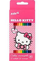Карандаши цветные 12шт/24цв. Kite Hello Kitty  двухсторонние. HK17-054