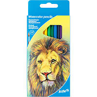 Карандаши цветные акварельные 12цв. Kite мод 049 Животные K17-049