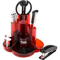 Настольный пластиковый набор Axent Cascade красный 2105-06-А