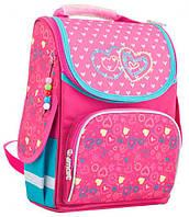 Рюкзак (ранец) 1 Вересня школьный каркасный Smart 553340 2 hearts PG-11 34*26*14см