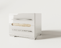 Тумба прикроватная Бьянко 430х500х406мм белый глянец + дуб сонома Світ Меблів