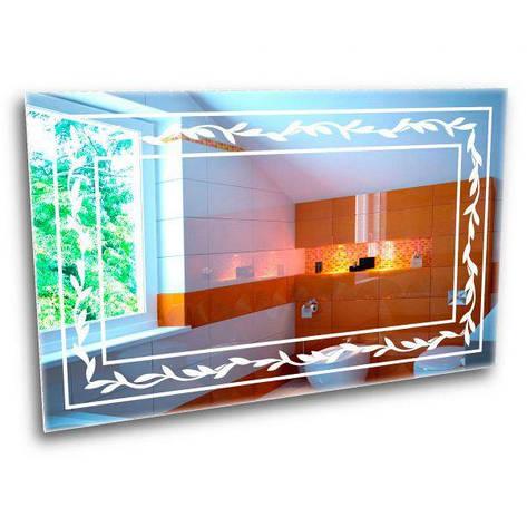 Зеркало с лед подсветкой. Зеркало с цветами, фото 2