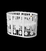 Кроватка-трансформер 9-в-1 круглая BAGGYBED ROUND с мишками молочный