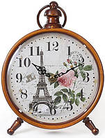 "Часы настольные ретро ""Эйфелева башня"" 16х24см"