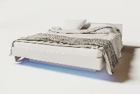 Кровать Бьянко 160 880х1650х2065мм белый глянец + дуб сонома Світ Меблів