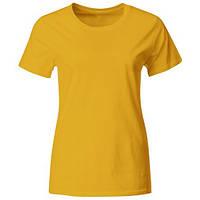 Женская фирменная футболка промо (Жёлтый)