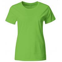 Женская фирменная футболка промо (Салатовый)