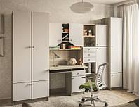 Комплект детской мебели Юниор белый, детская модульная мебель 3000*2050*520