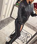 Женский стильный костюм из ангоры с люрексом и лампасами (4 цвета), фото 2