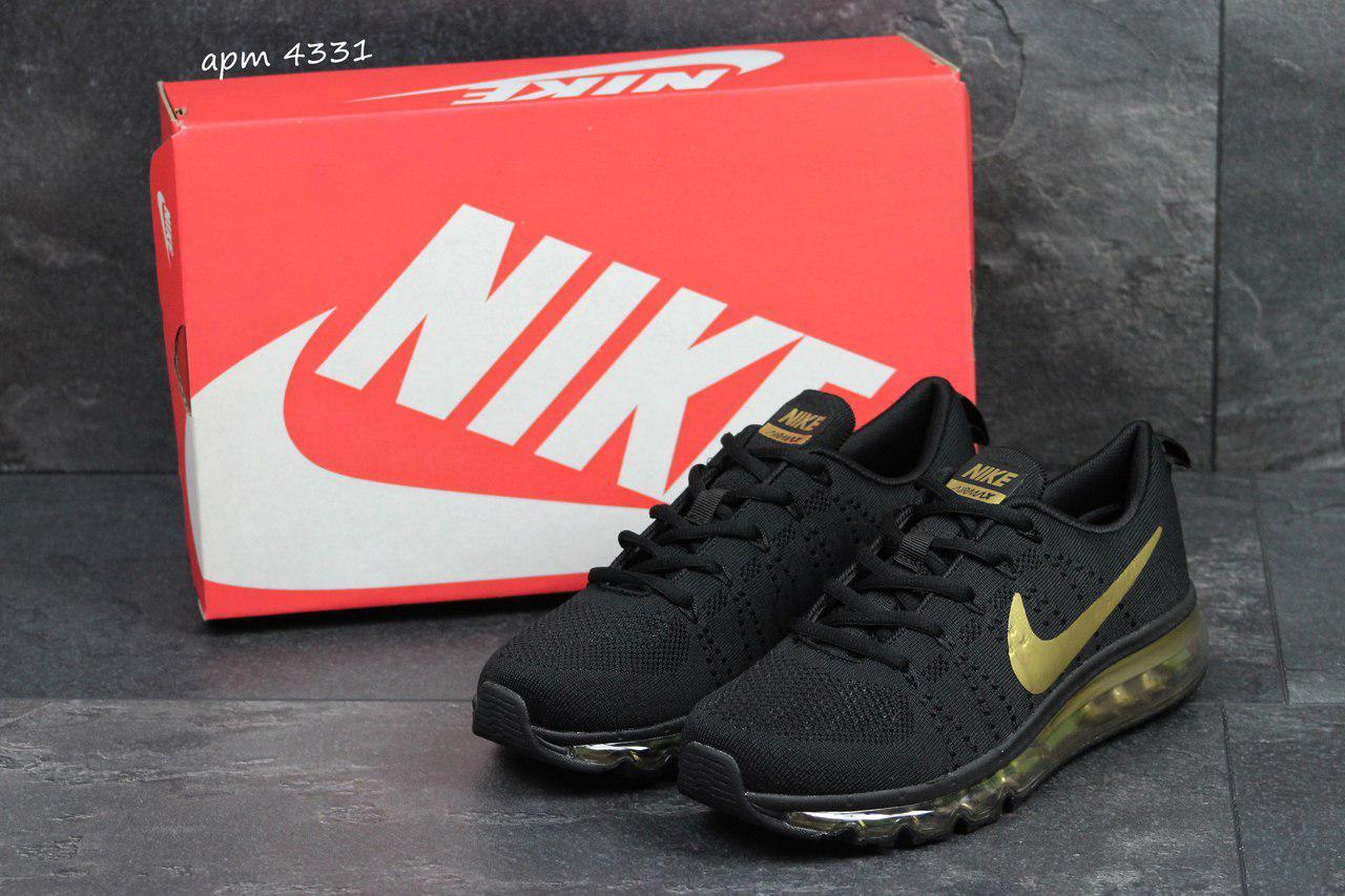 3465dafa Мужские кроссовки Nike air max 2017,черные с золотом - Интернет-магазин Дом  Обуви
