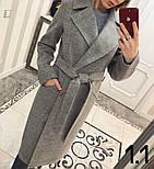 Женское стильное качественное шерстяное пальто в расцветках, фото 2