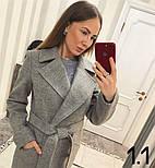 Женское стильное качественное шерстяное пальто в расцветках, фото 5