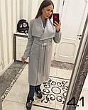 Женское пальто на запах с поясом (4 цвета), фото 4
