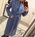 Женское пальто на запах с поясом (4 цвета), фото 9