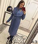 Женское пальто на запах с поясом (4 цвета), фото 10