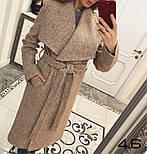 Женское стильное шерстяное пальто с поясом на запах (8 цветов), фото 3