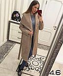 Женское стильное шерстяное пальто с поясом на запах (8 цветов), фото 4