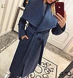 Женское стильное шерстяное пальто с поясом на запах (8 цветов), фото 9