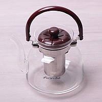 Заварник со съемным ситечком 0,6 л (стекло, пластик) 1609