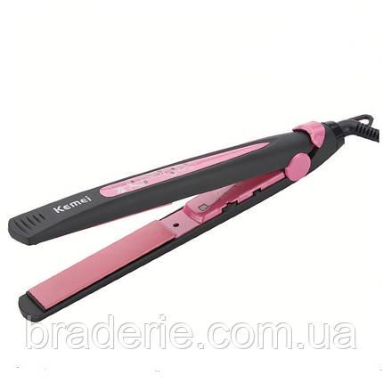 Утюжок для волос Kemei KM-2808, фото 2