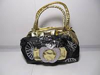 Женская серая сумка «Яблоко», фото 1