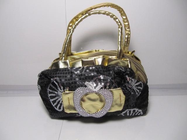 Женская серая сумка «Яблоко»
