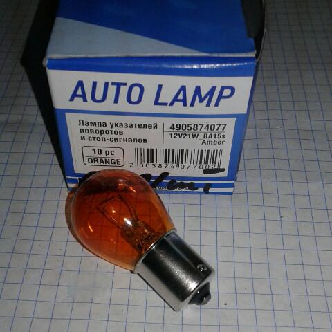 Лампа BA15s Amber 12V21W Tempest 4905874077