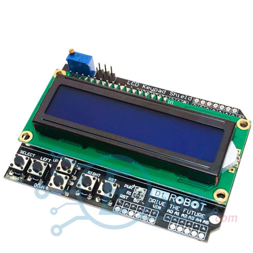 Модуль LCD 1602 с клавиатурой, Arduino Shield