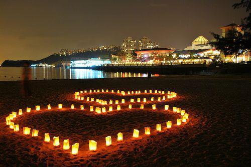 свечи на день святого валентина
