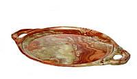 Подносы  из натурального камня  оникса