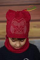 Набор шапка и хомут Совушка