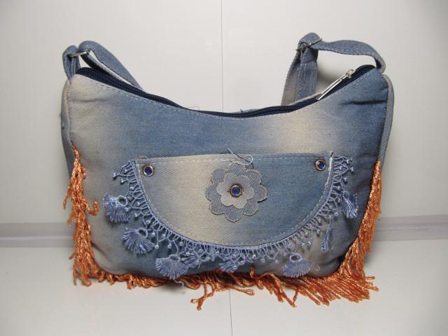 Женская сумка со стильным карманом «Джинс»