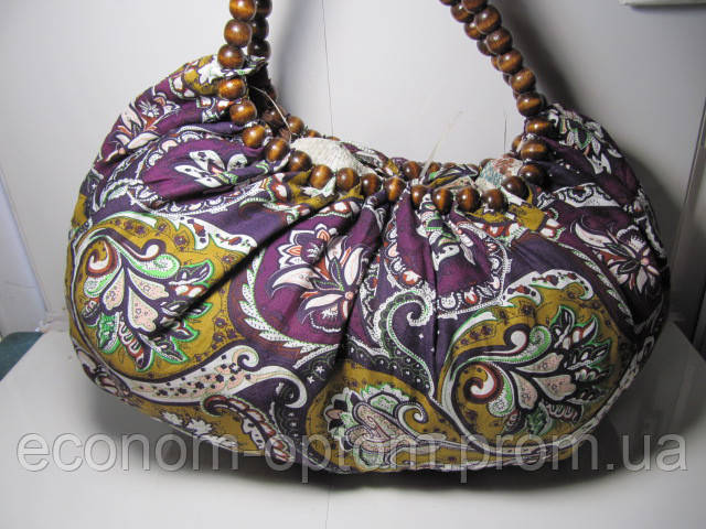 Женская сумка «Бусы» разных цветов 45х23 см