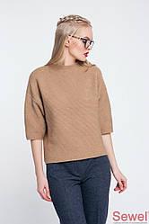 Модный женский свитер вязаный
