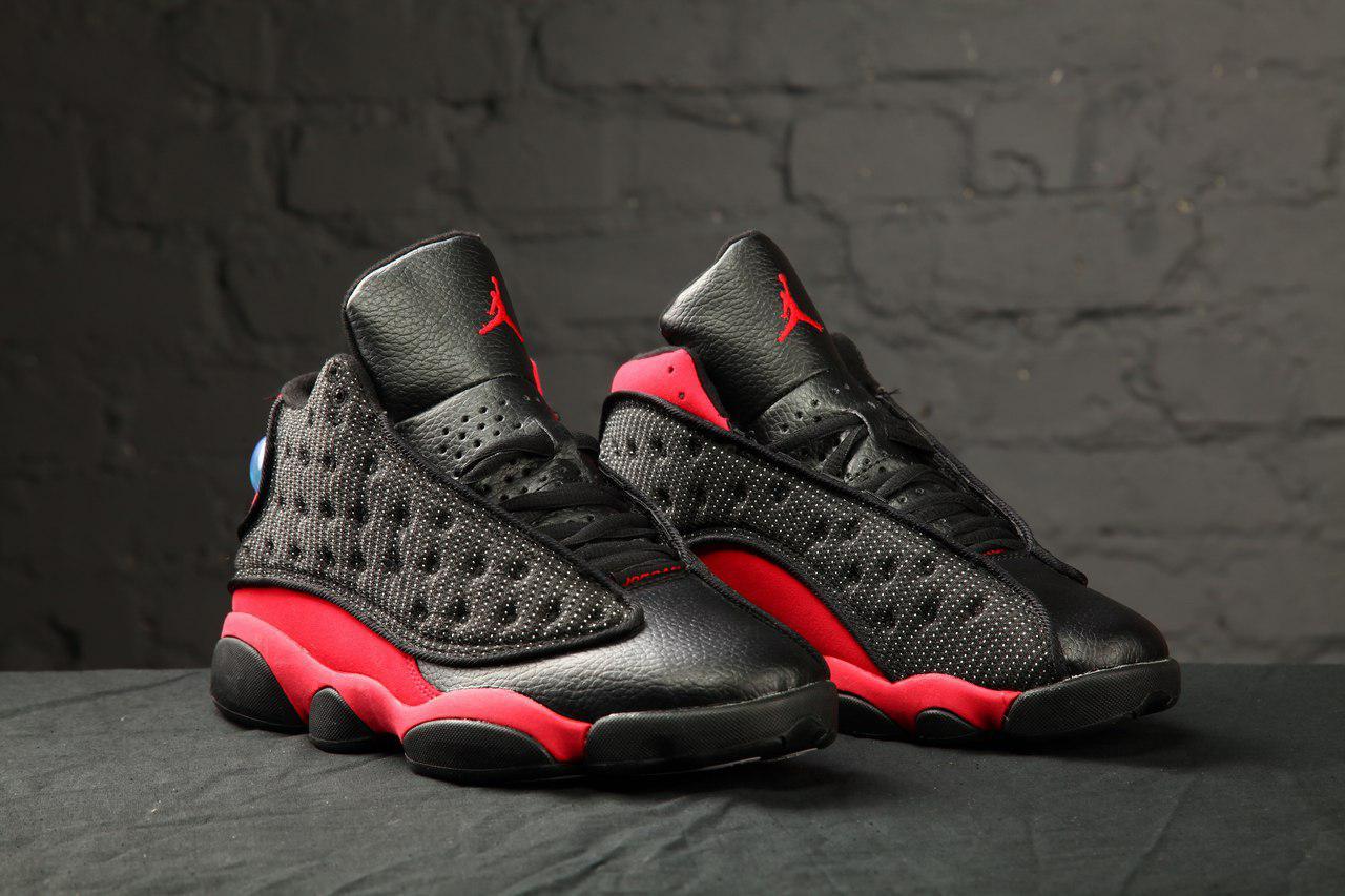 1da42bec Кроссовки мужские баскетбольные Nike Air Jordan 13 Black/Red/White (найк  эир джордан, реплика) (реплика)