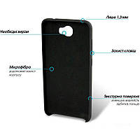 Накладка на заднюю крышку GlobalCase Huawei Y5 II Cap-X Black