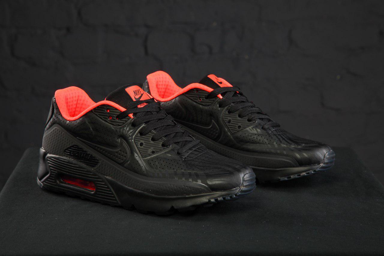 Кроссовки мужские весна Nike Air Max 90 Ultra Moire FB Black Crimson (найк  аир макс) (реплика) 1b73411ac6f