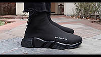 Мужские летние кроссовки модные Balenciaga Black Speed Trainers (реплика), фото 1