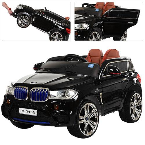 Детский электромобиль Bambi BMW Х5 M 3102 EBLRS черный
