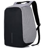 """Городской рюкзак антивор под ноутбук 15,6"""" Бобби Bobby с USB, серый с черным"""