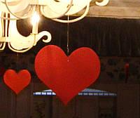 Сердце из пенопласта красное 10 см