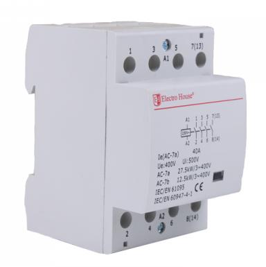Контактор модульный Electro House 40А 230V 4 нормально открытых контакта