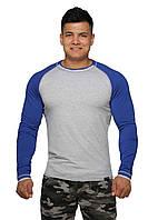 Реглан для занятия спортом и активного отдыха  (серо синий) Long Sleeve