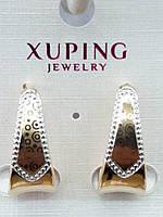 505 Серёжки. Позолоченная бижутерия Xuping. Серьги позолоченные оптом.