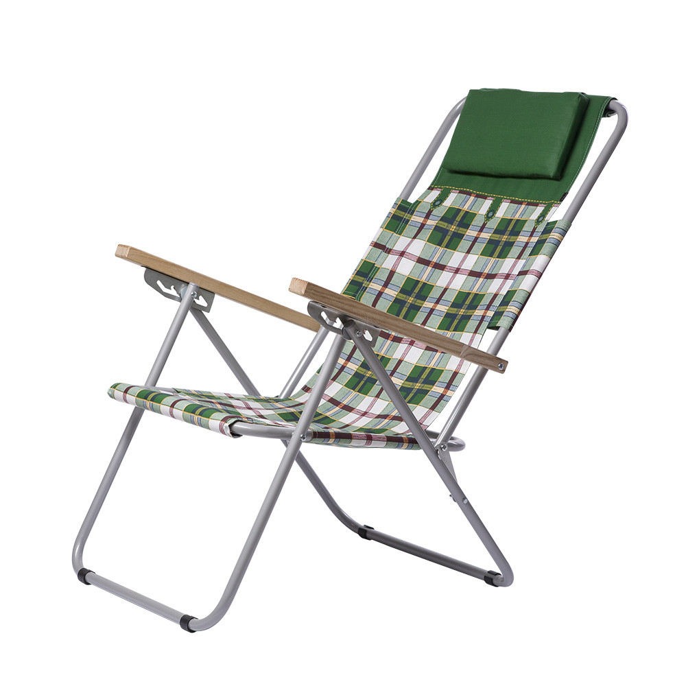 """Кресло-шезлонг """"Ясень"""" d20 мм бязь зеленая клетка"""
