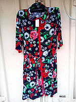 Женский велюровый халат больших размеров 06 (12) Код:643139238