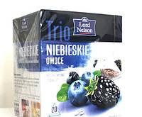 Чай пакетированный пирамидки Lord Nelson Trio 20 пак.(ежевика и черника)
