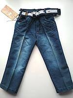 Удобные синие джинсы на мальчика, фото 1